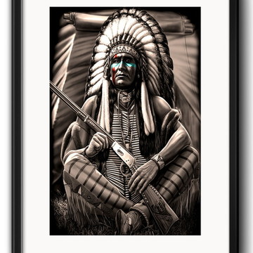 Quadro Índio Americano com Paspatur