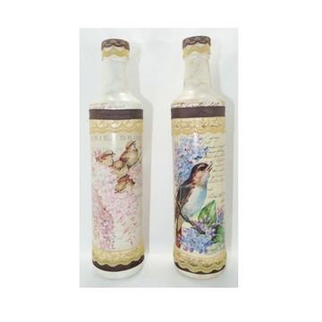 Dupla de garrafas vintage Passarinhos