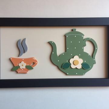 Quadro de xícara e bule