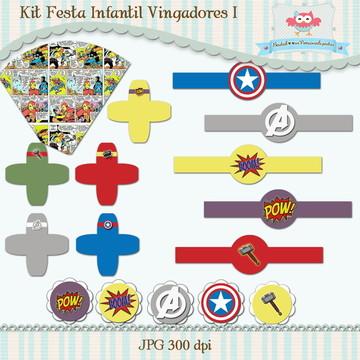 Kit Festa Infantil Vingadores I