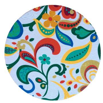 Capa Sousplat Floral Colorido