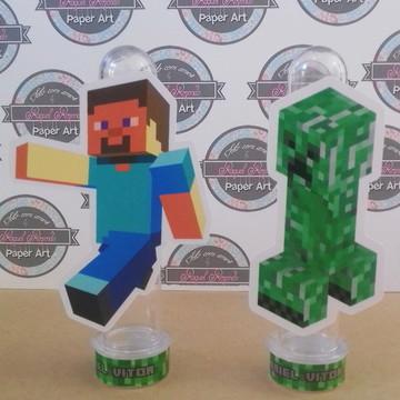 Tubete com aplique Minecraft