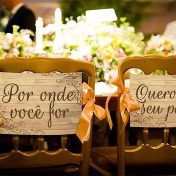 Casamento - Placas Decorativas - Cadeira Noivos
