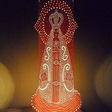 luminária em pvc Nossa Senhora Aparecida