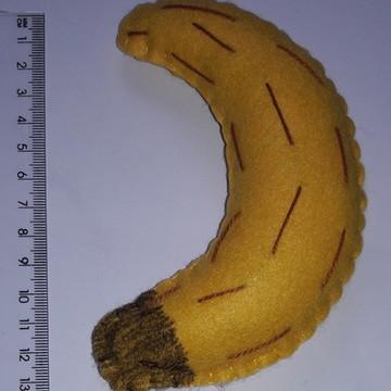 Frutas Decorativas de Feltro - banana