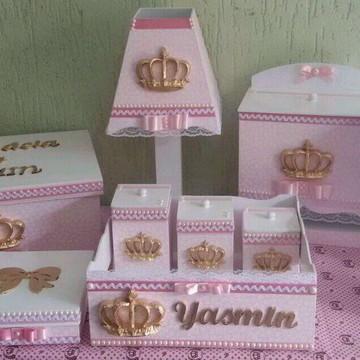 Kit higiene princesa com garrafa térmica