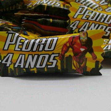 100 balas personalizadas Vingadores