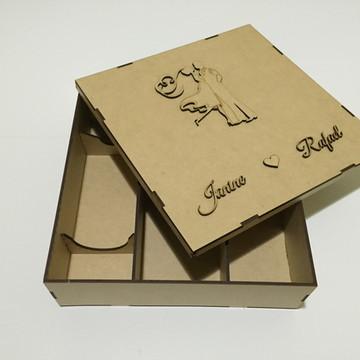 Caixa Casamento Mini Espumante Taças