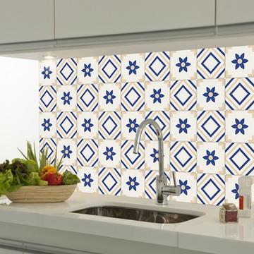 Adesivo decorativo azulejo portugues 057
