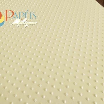 Papel Textura Poá Marfim 12 unidades