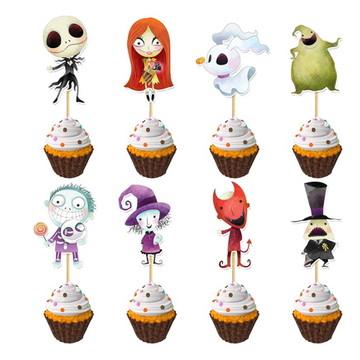 Topper Cupcake O Estranho Mundo de Jack