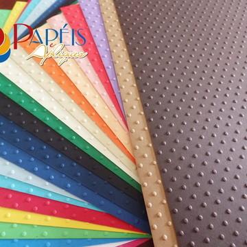 Papel Textura Poá 04 cores 12 unidades