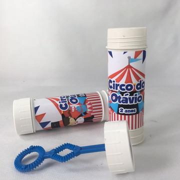 Bolinhas de Sabão Personalizado Circo