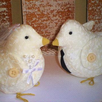 TOPO DE BOLO LOVE BIRDS