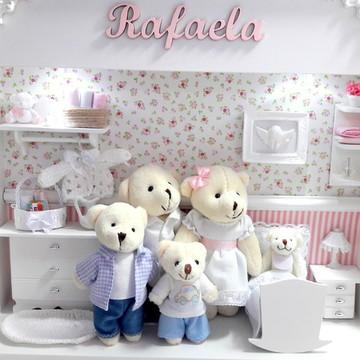 Enfeite de Porta de Maternidade Família urso