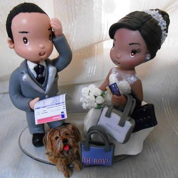Topo de bolo casamento fofinho, personalizado