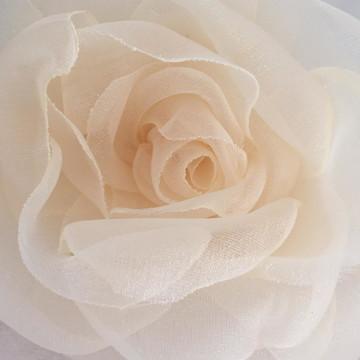 Flor de tecido organza