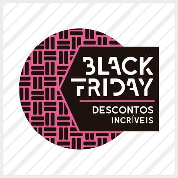 Adesivo de Vitrine Black Friday Estampa