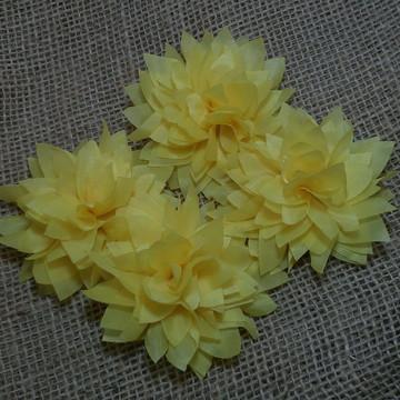 Flor para cabelo Dalia Colors Amarelo