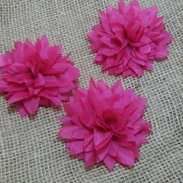 Flor para cabelo Dalia Colors. Pink