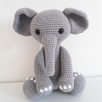 Amigurumi Elefante 100% Algodão