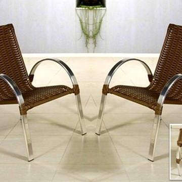 Conjunto Cadeiras Poltronas Em Alumínio