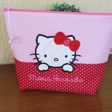 Necessaire Plastificada Hello Kitty