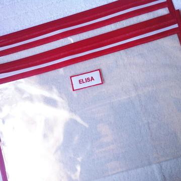 Saquinho Maternidade Transparente ziper