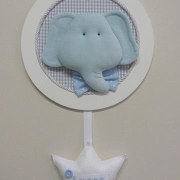 Quadro Porta Maternidade Safari Elefante