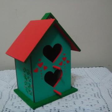 Casa de passarinho dois corações