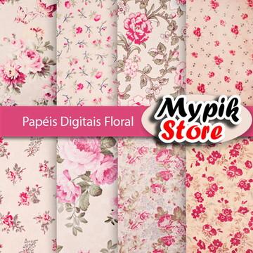 Kit Digital Papel Digital Floral - 47