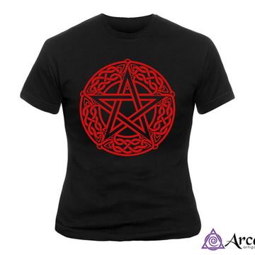 Baby Look Pentagrama - Estampa vermelha