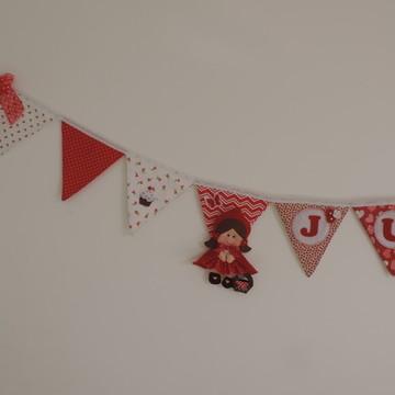 Bandeirolas chapeuzinho vermelho
