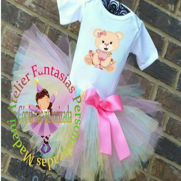 Fantasia Roupa Aniversario Princesa Ursa