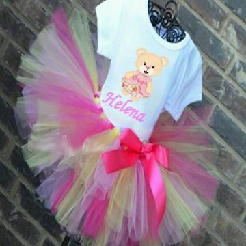 Fantasia Roupa Aniversario Princesa Ursi