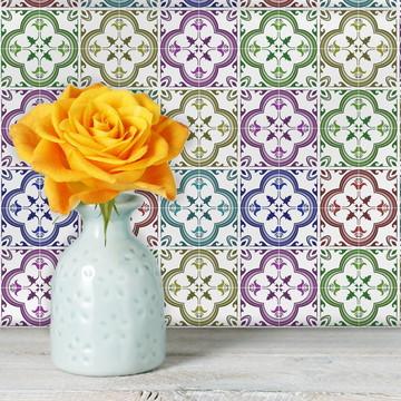 Adesivo Azulejo Cozinha 15x15 18unDomini