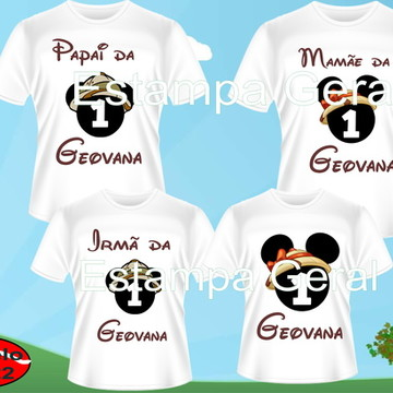 Kit Camisetas Aniversario Mickey Safari