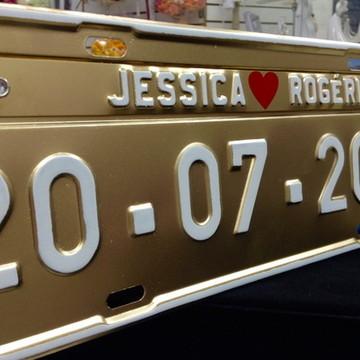 Placa de Carro para Casamento P7
