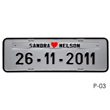 Placa de Carro para Casamento P3