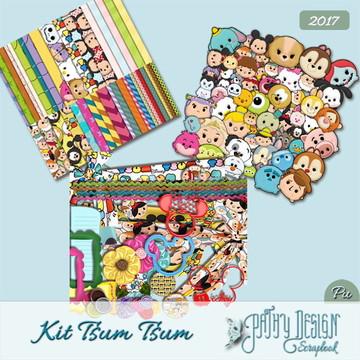 Kit Scrapbook Digital Tsum Tsum