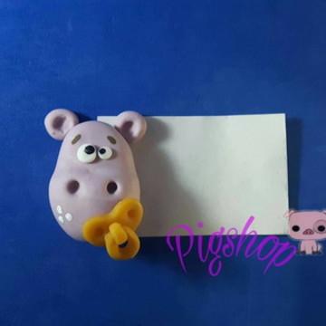 Lembrancinha de chá de bebê Hipopotamo