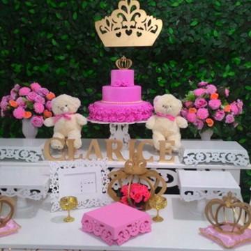 Locacao decoracao ursa princesa