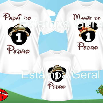 Kit Camiseta Aniversario Mickey Safari 3