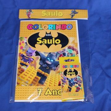 Revista Para Colorir KIT BATMAN LEGO