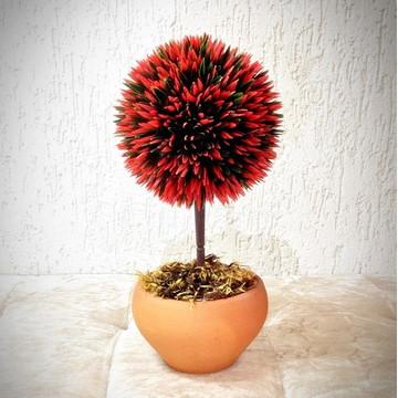 Bonsai Bola Vermelha (artificial)