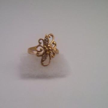 Anel banhado a Ouro com Micro Zircônia