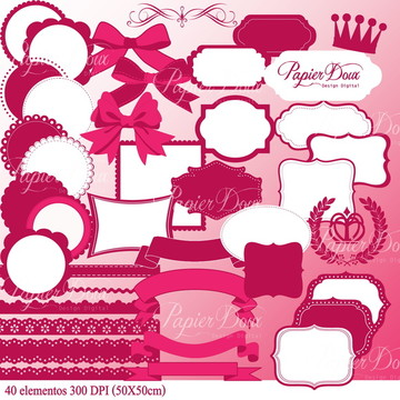 Kit Digital Acessórios Rosa