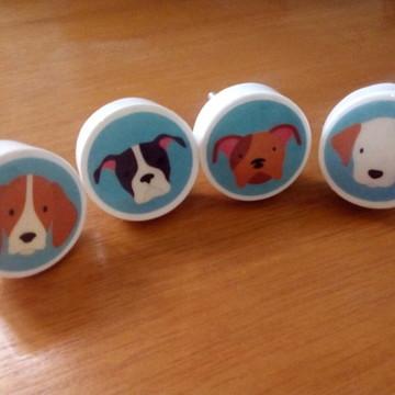 puxador estilo Porcelana cachorro, cachorrinhos
