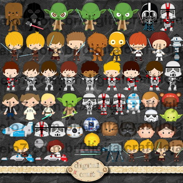 Scrapbook Digital - Star Wars cliparts