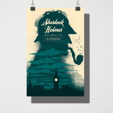 Poster A3 Sherlock Holmes